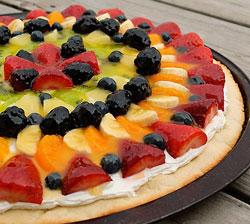 рецепт фруктовой пиццы фото
